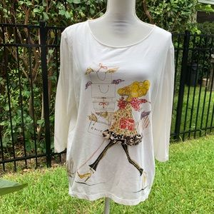 Chico's chic blouse top size 3